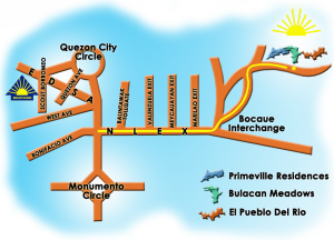 house and lot bulacan, location map